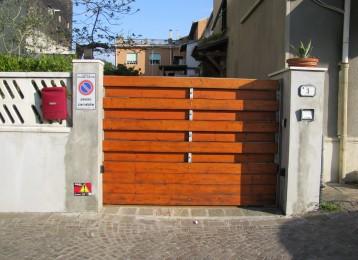 Le foto della nostra attivit for Costruire cancello legno